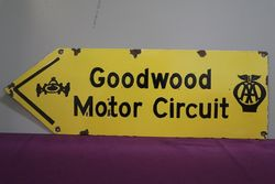 AA Goodwood Motor Circuit Enamel Sign  #