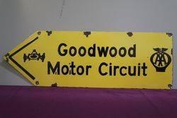 AA Goodwood Motor Circuit Enamel Sign