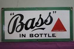 Bass Enamel Advertising Sign #