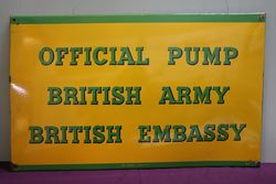BP..Official Pump British Army & Embassy Enamel Sign #