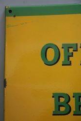 Official Pump British Army British Embassy Enamel Sign