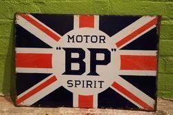 BP Motor Spirit Double Sided Enamel Advertising Sign