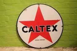 Caltex Enamel Advertising Sign