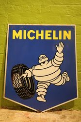 Michelin Double Sided Enamel Shield Advertising Sign