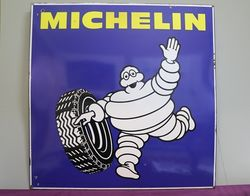 Michelin Double Sided Enamel Advertising Sign  #