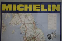 Michelin Tin England Map Sign