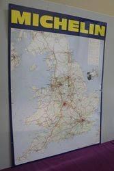Michelin Tin England Map Sign