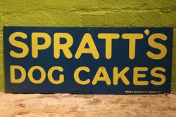 Spratt's Dog Cakes Enamel Advertising Sign  #