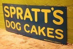 Sprattand39s Dog Cakes Enamel Advertising Sign