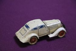 Toy Clockwork Tinplate Coupe With Key