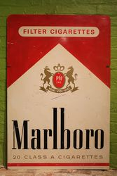 Marlboro Cigarettes Double Sided Aluminium Advertising Sign #