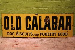 Old Calabar Dog Food Enamel Advertising Sign #