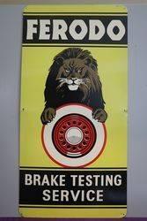 Ferodo Brake Testing Service Advertising Tin Sign #