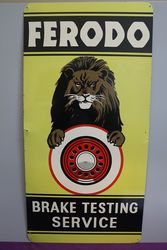 Ferodo Brake Testing Service Advertising Tin Sign #