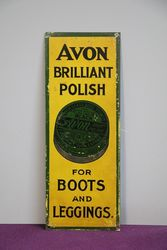 Avon Brilliant Polish Tin Door Finger Plate Sign #