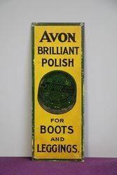 Avon Brilliant Polish Tin Door Finger Plate Sign #