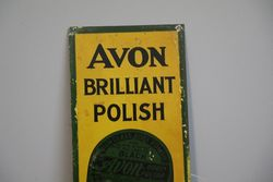 Avon Brilliant Polish Tin Sign