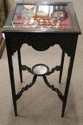 Chinese Chippendale Style Bijouterie  Collectors Cabinet #