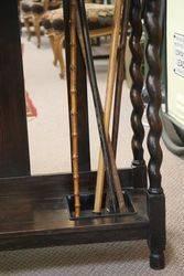 Early C20th English Oak Stick Stand C1920