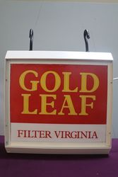 Wills Gold Leaf Filter Virginia Double Sided Light Box #