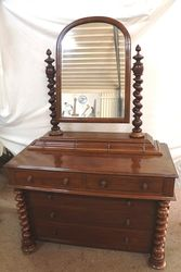 Quality Victorian Mahogany Dressing Chest.#