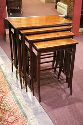 Edwardian Inlaid Mahogany Nests of 4 Tables #