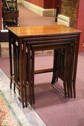 Inlaid Mahogany nests of 4 Tables