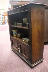 Quality English Oak 2 Door Bookcase