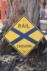 Railway Crossing Aluminium Road Safety Sign #