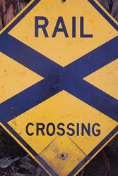 Rail Crossing Aluminium Road Safety Sign