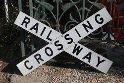 Railway Crossing Reflective Cross Bucks Railroad Sign #