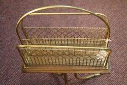 A Quality Antique Brass Magazine Rack
