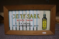Cutty Sark Scotch Whisky Wooden Framed Advertising