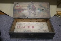 Early Teacher Whisky Pictorial Advertising Box #