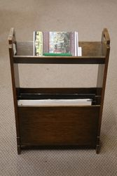 Period Oak Magazine Rack-Bookcase. #