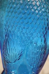 Blue Glass Eagle Decanter