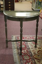 Half Round Painted Hall Table #