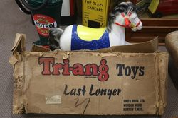 Vintage Triang Rocking Horse Kids Toy With Original Box