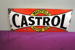 Castrol Wakefield Bow Tie Rack Sign.#