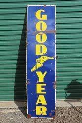 Good Year Strip Enamel Advertising Sign .#