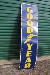 GoodYear Enamel Advertising Sign