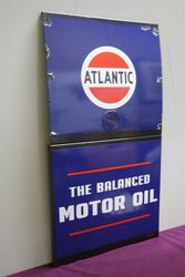 Atlantic The Balanced Motor Oil Enamel Advertising Sign