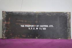 Castrol Motor Oil Patented Enamel Advertising Sign