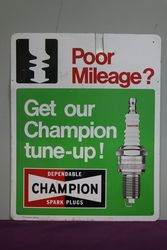 Champion Spark Plugs Pictorial Advertising Tin Sign #