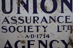 Union Assurance Society Ltd Agency AD1714 Enamel Sign