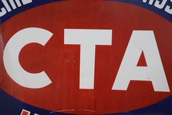 CTA Commercial Travellers Association Hotel  Double Sided Enamel Advertising Sign