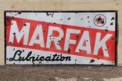 Caltex Marfak Lubrication Enamel Advertising Sign