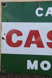 Castrol andquotCall for Castrol Motor Oil andquot Enamel Advertising Sign