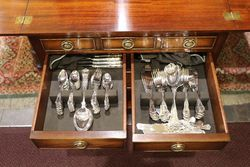 4 Drawer Fitted Mahogany Cutlery Canteen 193 Piece andquotKingsandquot Pattern