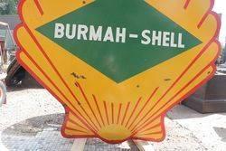 Burmah Shell Double Sided Enamel Advertising Sign